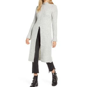 Vero Moda Gaiva Slit Front Midi Sweater Dress